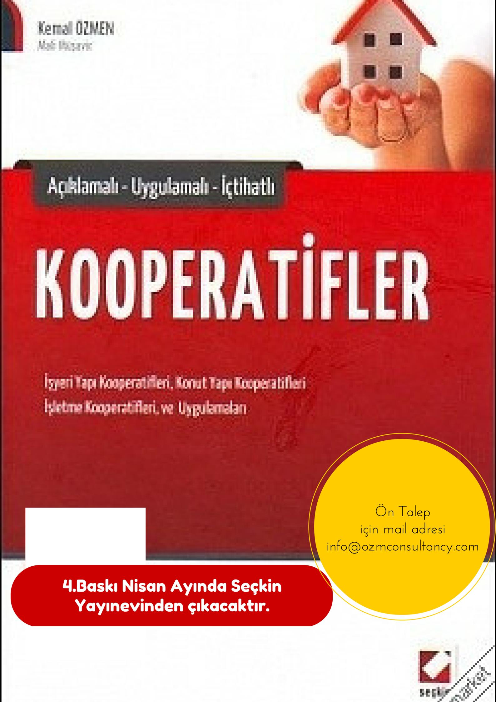 Kemal Özmen-Kooperatifler İsimli Kitabı